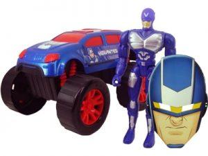 Boneco Super Escudeiro de Aço com Carro e Máscara