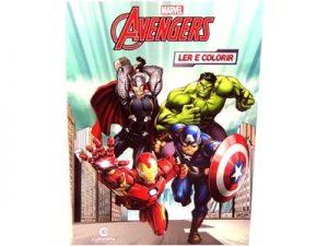 Livro Médio Ler e Colorir Vingadores